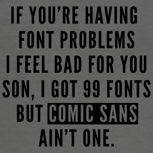 Font Problems Tassen & rugzakken - slim fit T-shirt