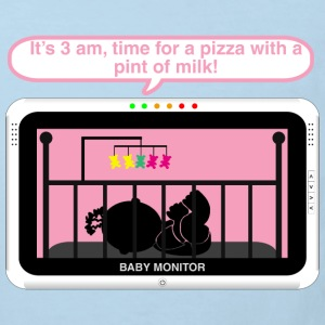 Girl baby monitor - Pizza Baby Bodysuits - Kids' Organic T-shirt
