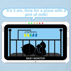 Boy baby monitor - Pizza Baby Bodysuits - Kids' Organic T-shirt