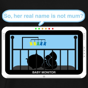 Boy baby monitor - Name Baby Bodysuits - Men's Premium T-Shirt