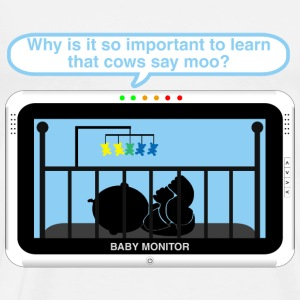 Boy baby monitor - Moo Baby Bodysuits - Men's Premium T-Shirt