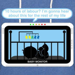Boy baby monitor - Labour Baby Bodysuits - Light Unisex Sweatshirt Hoodie