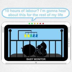Boy baby monitor - Labour Baby Bodysuits - Baseball Cap