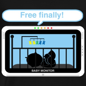 Boy baby monitor - Free Baby Bodysuits - Men's Premium T-Shirt