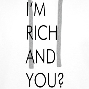 I'M RICH AND YOU? Sacs et sacs à dos - Sweat-shirt à capuche Premium pour hommes