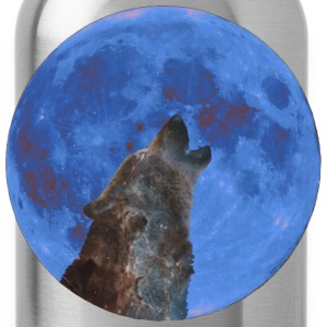 Galaxy Wolf and blue moon - Drinkfles
