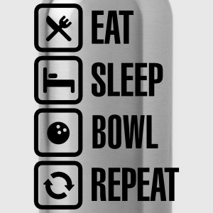 Eat -  sleep - bowl - repeat (Bowling) T-Shirts - Water Bottle