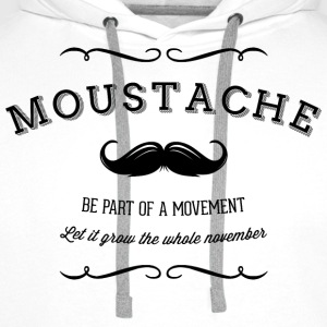 November Moustache Movement Sportkleding - Mannen Premium hoodie