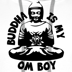 Buddha is my Om Boy T-Shirts - Männer Premium Hoodie