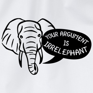 Your Argument is Irrelephant Tee shirts - Sac de sport léger