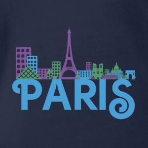 Skyline Paris Shirts - Organic Short-sleeved Baby Bodysuit