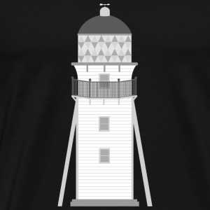 Lighthouse in grey and white Hoodies & Sweatshirts - Men's Premium T-Shirt