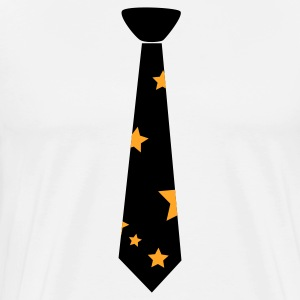 Black tie with stars  Aprons - Men's Premium T-Shirt