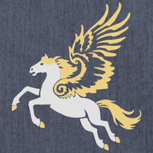 Pegasus Langarmshirts - Schultertasche aus Recycling-Material