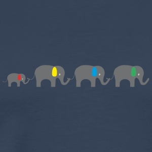 Elephant family Long Sleeve Shirts - Men's Premium T-Shirt