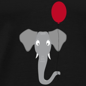 Elephant head with red balloon Baby Long Sleeve Shirts - Men's Premium T-Shirt