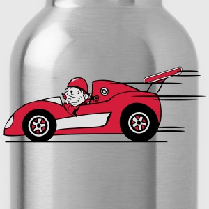 Raceauto grappige comic T-shirts - Drinkfles