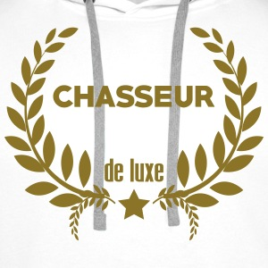 Chasse / Chasseur / Chasseuse / Animal / Nature Tee shirts - Sweat-shirt à capuche Premium pour hommes