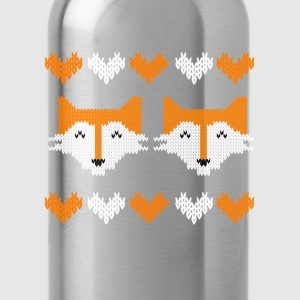 Merry Cfhristmas fox t shirts T-Shirts - Water Bottle