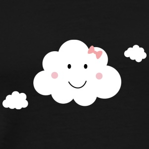 Happy cloud with Pink Ribbon Baby Long Sleeve Shirts - Men's Premium T-Shirt
