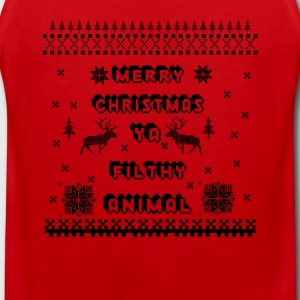 Merry Christmas Ya Filthy Animal, Long Sleeve Shirts - Men's Premium Tank Top