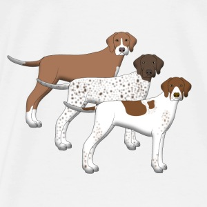 Pointer color Babyhaklapp - Premium-T-shirt herr