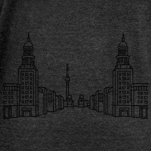 Frankfurter Tor Berlin T-Shirts - Women's Boat Neck Long Sleeve Top