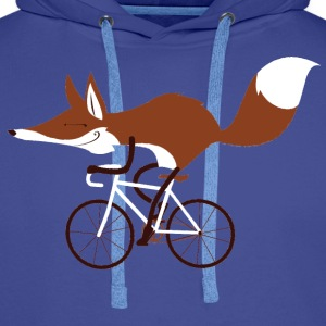 Sky Blue Fox Cycling T-Shirt - Men's Premium Hoodie