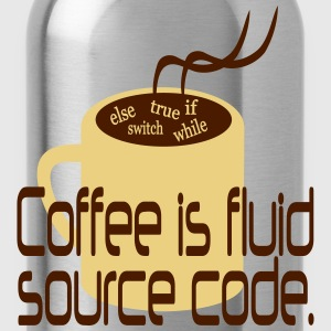Coffee is source code Pullover & Hoodies - Trinkflasche