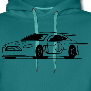 Race car run fast T-Shirts - Men's Premium Hoodie