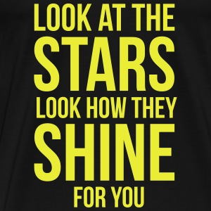 Look at the stars. Look how they shine for you Baby Bodys - Männer Premium T-Shirt