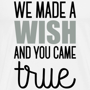 Babydesign: We made a wish and you came true Langærmede shirts - Herre premium T-shirt