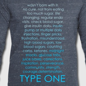 Type One Ombre - Blue T-Shirts - Men's Sweatshirt by Stanley & Stella