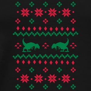 Christmas Pattern T Rex Bags & Backpacks - Men's Premium T-Shirt