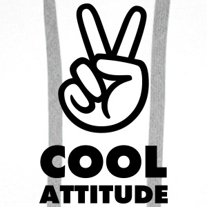 BADGE FUN COOL ATTITUDE - Sweat-shirt à capuche Premium pour hommes