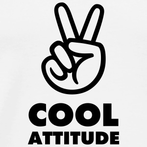 BADGE FUN COOL ATTITUDE - T-shirt Premium Homme