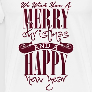 We wish you a merry christmas and a happy new year Toppe - Herre premium T-shirt