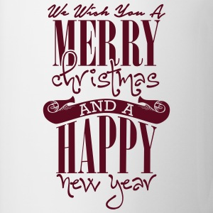 We wish you a merry christmas and a happy new year T-shirts - Mugg
