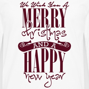 We wish you a merry christmas and a happy new year T-shirts - Långärmad premium-T-shirt herr