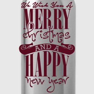We wish you a merry christmas and a happy new year Shirts - Water Bottle