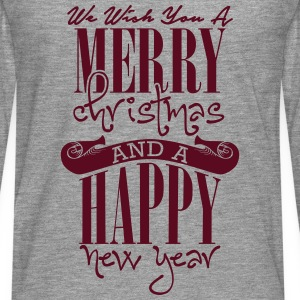 We wish you a merry christmas and a happy new year Shirts - Men's Premium Longsleeve Shirt