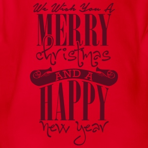 We wish you a merry christmas and a happy new year T-shirts - Ekologisk kortärmad babybody