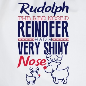 Rudolph the red nosed reindeer Long Sleeve Shirts - Drawstring Bag