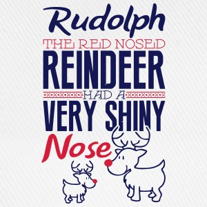 Rudolph the red nosed reindeer Shirts met lange mouwen - Baseballcap
