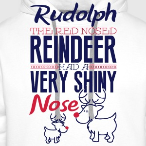 Rudolph the red nosed reindeer Shirts - Men's Premium Hoodie