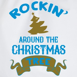 Rockin around the christmas tree Baby Bodysuits - Drawstring Bag