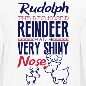 Rudolph the red nosed reindeer T-Shirts - Men's Premium Longsleeve Shirt