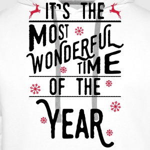 It's the most wonderful time of the year baby shirts met lange mouwen - Mannen Premium hoodie