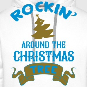 Rockin around the christmas tree Long Sleeve Shirts - Men's Premium Hoodie