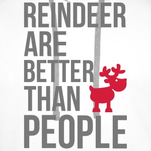Reindeer are better than people Baby Long Sleeve Shirts - Men's Premium Hoodie
